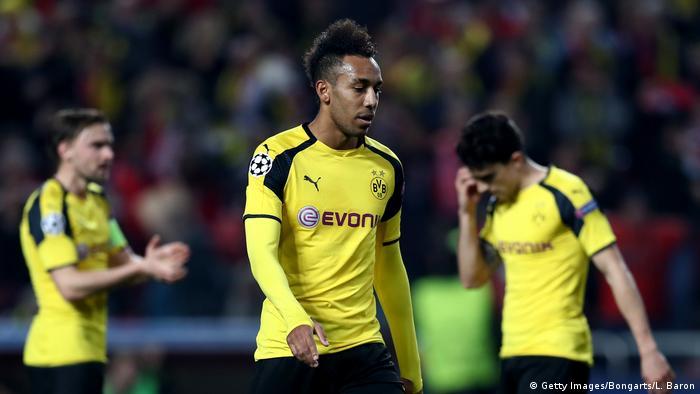 UEFA Champions League | Benfica Lissabon vs Borussia Dortmund Enttäuschung nach Fehlschuss (Getty Images/Bongarts/L. Baron)
