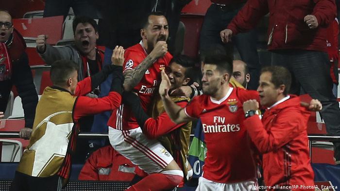 UEFA Champions League | Benfica Lissabon vs Borussia Dortmund Torjubel Kostas Mitroglou