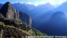 Südamerika Peru Ruinenstadt Machu Picchu