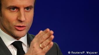 Frankreich Paris Präsidentschaftskandidat Emmanuel Macron