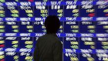 Japan Finanzkrise Börse in Tokio Kursen Tafel
