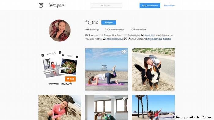 Аккаунт Луизы Деллерт в Instagram