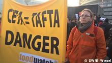 Frankreich CETA Protest in Straßburg