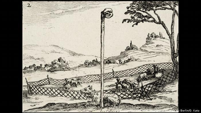 Image by Jacques Callot from 1628 depicting the eye of God watching over mankind (Kupferstichkabinett, Staatliche Museen zu Berlin/D. Katz)
