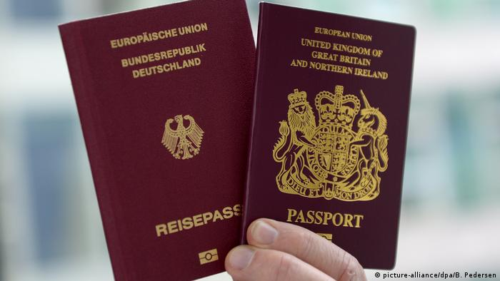 A German and a British passport