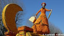 Frankreich Zitronenfestival in Menton
