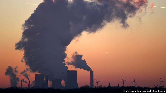 Luftverschmutzung durch Braunkohlekraftwerk