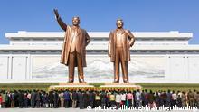Nordkorea Mansudae Grand Monument der ehemaligen Präsidenten Kim Il Sung and Kim Jong Il