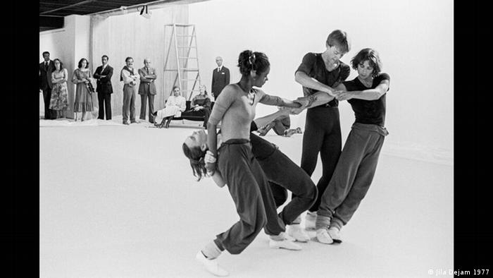 Exhibition in Berlin, photo of dancers 1977