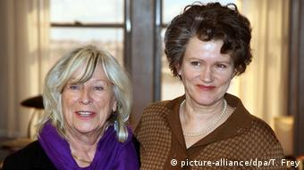 Margarethe von Trotta with actress Barbara Sukowa (c) picture-alliance/dpa/T. Frey