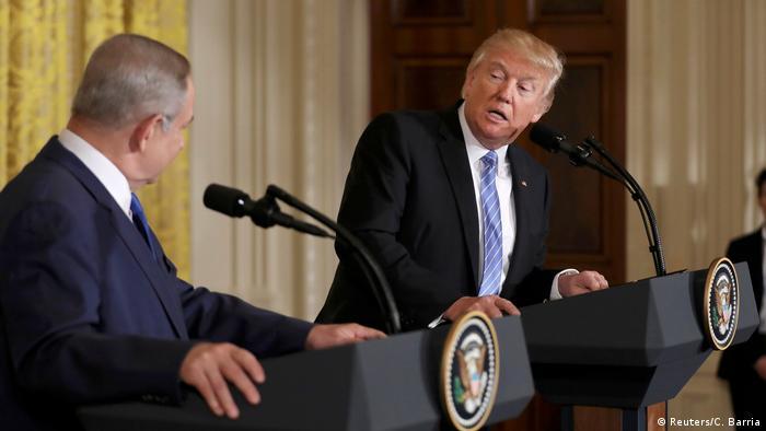 Washington Treffen Trump und Netanjahu (Reuters/C. Barria)