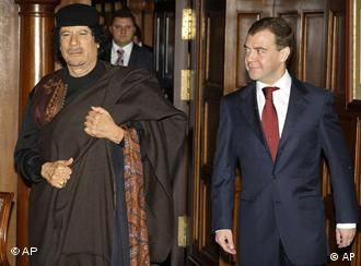 Gadhafi in Moscow in 2008