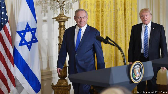 USA Israel | Benjamin Netanjahu bei Donald Trump in Washington (Getty Images/AFP/M. Ngan)