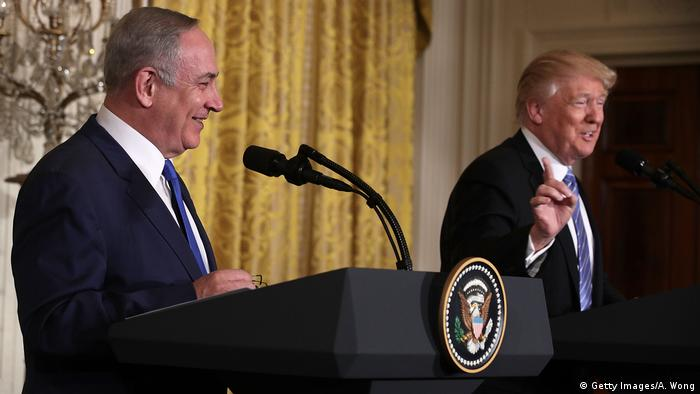 USA Israel | Benjamin Netanjahu bei Donald Trump in Washington (Getty Images/A. Wong)