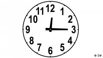 Clockface, time: 12:15