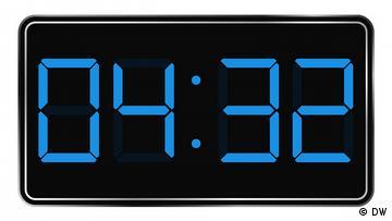 Digitale Uhrengrafik, Uhrzeit: 04:32 Uhr