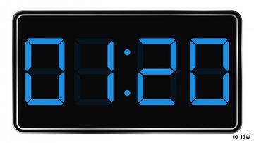 Digitale Uhrengrafik, Uhrzeit: 01:20 Uhr
