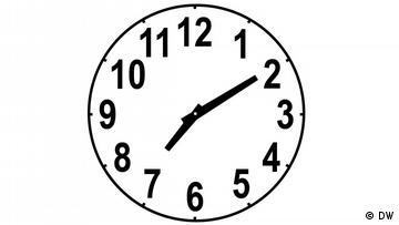 Clockface, time: 7:10