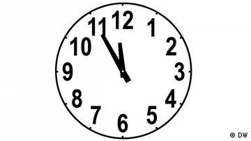 Clockface, time: 11:55