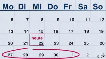Calendar page, the coming week circled