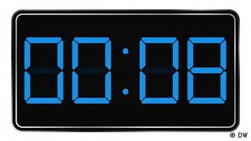 Digitale Uhrengrafik, Uhrzeit: 00:08 Uhr