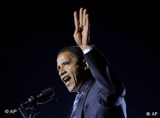 Democratic presidential candidate, Sen. Barack Obama, D-Ill., speaks at a rally in Highland, Ind., Friday, Oct. 31, 2008.