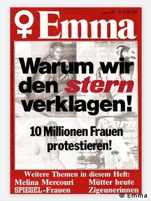 Emma Cover zum 75. von Margarethe von Trotta. (Emma)