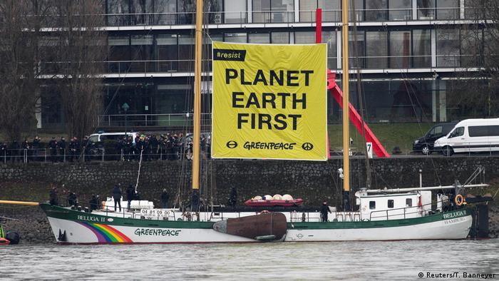 Deutschland G 20 Außenministertreffen in Bonn Proteste Greenpeace