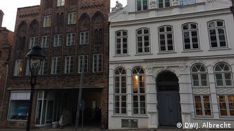 Das Buddenbrookhaus in Lübeck von außen
