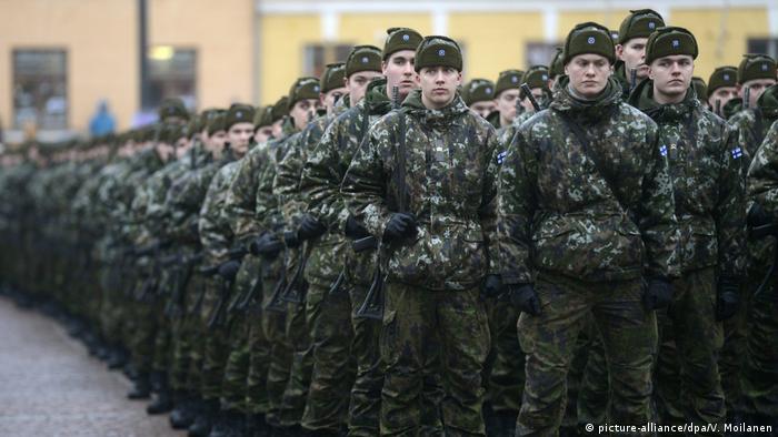 Finnland Armee Soldaten Wehrpflichtige