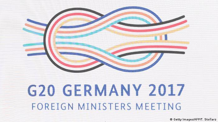 Logo G20 (Getty Images/AFP/T. Stollarz)