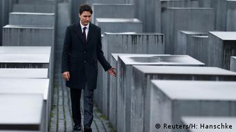 Deutschland Trudeau am Holocaust Mahnmal
