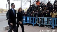 Spanien Prinzessin Cristina und Ehemann Inaki Urdangarin vor Gericht in Palma de Mallorca