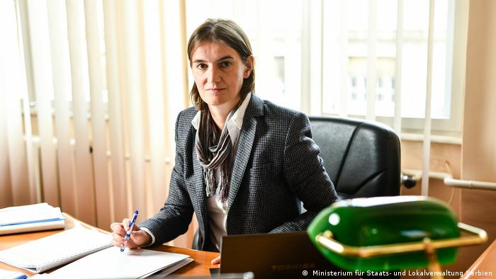 Ana Brnabic in her office
