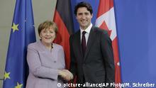 Deutschland Merkel und Trudeau PK im Bundeskanzleramt in Berlin