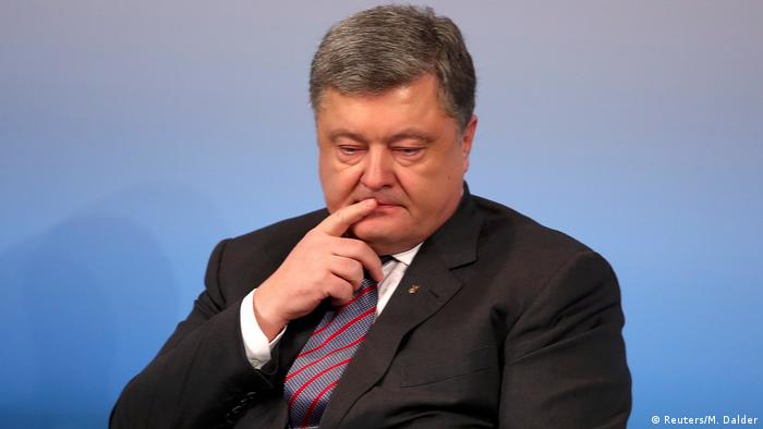 Petro Poroshenko is pictured in Munich in 2017