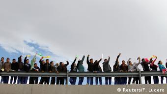 Mexico Juarez - Aktivisten protestieren gegen die Politik von Donald Trump