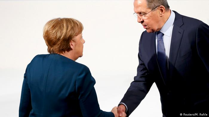Ангела Меркель и Сергей Лавров