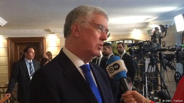 Michael Fallon im DW Interview (DW/C. Trellert)