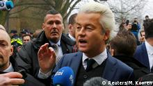 18.02.2017+++Spijkenisse, Niederlande+++ Dutch far right Party for Freedom (PVV) leader Geert Wilders campaigns for the 2017 Dutch election in Spijkenisse, a suburb of Rotterdam, Netherlands, February 18, 2017. REUTERS/Michael Kooren