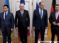 Зліва направо: Павло Клімкін, Жан-Марк Еро, Сергій Лавров, Зіґмар Ґабріель