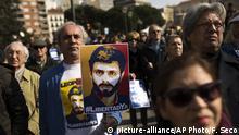 Spanien Protest gegen Inhaftierung von Oppositionspolitiker Leopoldo Lopez in Venezuela
