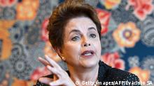 17.02.2017+++Brasilia, Brasilien+++Former Brazilian President (2011-2016) Dilma Rousseff speaks with AFP during an interview in Brasilia on February 17, 2017. Rousseff spoke about the current Brazilian economic situation and the possibility of running for a seat in Congress in the next elections. / AFP / EVARISTO SA (Photo credit should read EVARISTO SA/AFP/Getty Images)