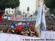 Учасники акції протесту в Тирані