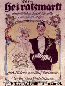 Ein Exponat der Ausstellung zeigt eine Anzeige, die für den Heiratsmarkt wirbt.