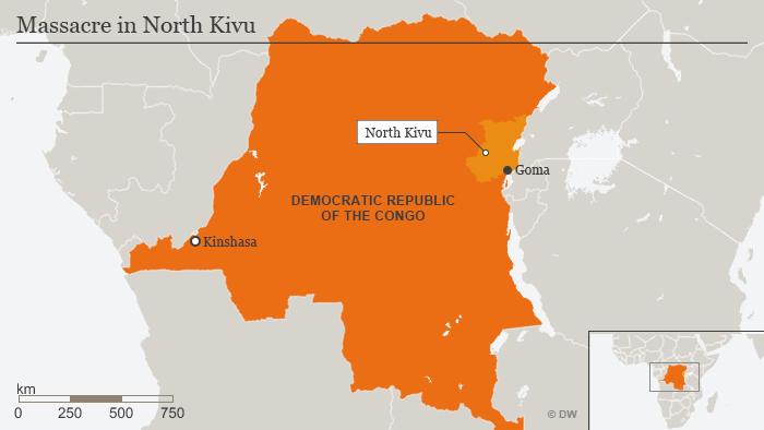 Karte Massaker in Nord-Kivo englisch