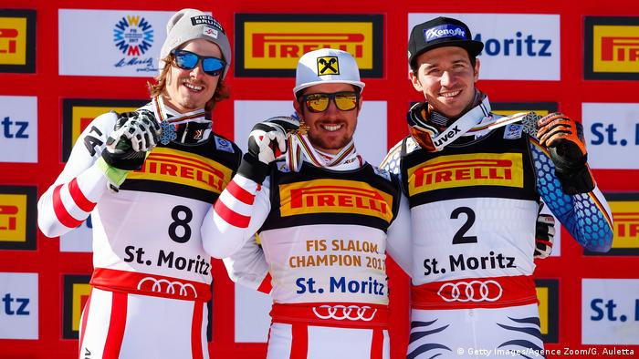 Schweiz Alpine Ski-WM in St. Moritz | Siegerehrung (Getty Images/Agence Zoom/G. Auletta)