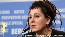 3027198 02/12/2017 Screenwriter Olga Tokarczuk during the news conference for the film Spoor (Pokot) at the 67th Berlin International Film Festival. Ekaterina Chesnokova/Sputnik  