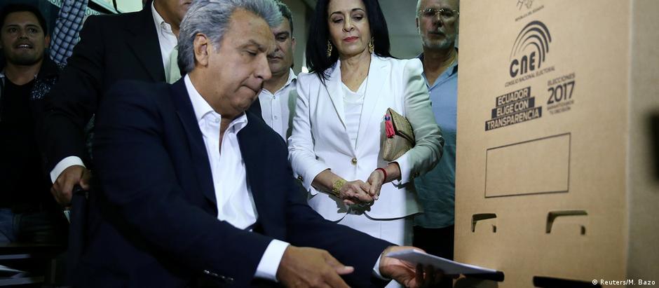 Moreno vota em Quito
