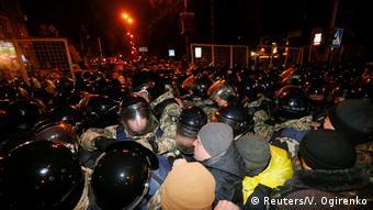 Ukraine Demo in Kiew gegen den Handel mit der Ostukraine